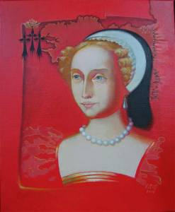 """Anne"" Canvas, acrylic 46x38. 2014"