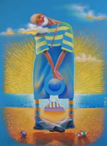 """""""Songe d'un clown"""". Paper, pastel 63х48."""