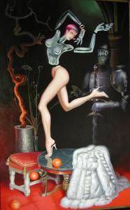 """""""Fille fragile"""".Toile, Acrylique, 116 X 74"""