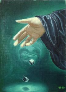 """""""Игра"""". Холст на картоне, масло. 1990г."""
