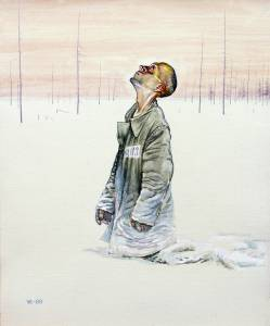 """Без названия"". Картон, темпера. 1989"
